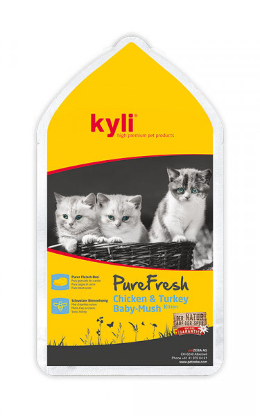 Pure Fresh Chicken & Turkey Baby Mush Kitten 12 x 85g